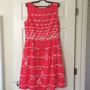 Talbots Sailboat Dress 12